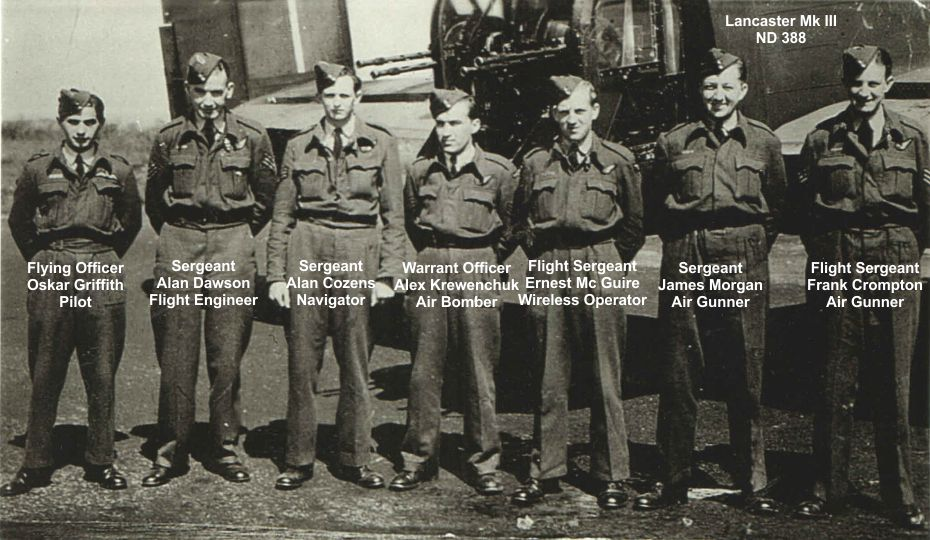The crew of Lancaster ND 388